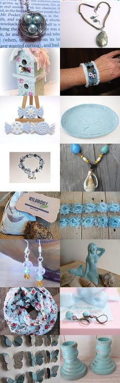 Blue like a Robin's Egg~TeamUNITY~Goup 3 by Kathy Carroll on Etsy--Pinned with TreasuryPin.com  #summertrends