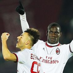 Balotelli and El Shaarawy AC Milan