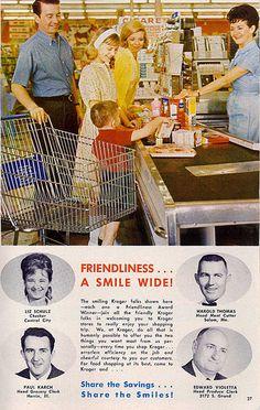 Kroger Ad, but I remember running a register like that!