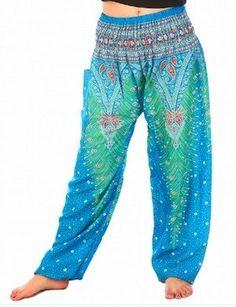 Light Blue Peacock Pants – Asha Pants