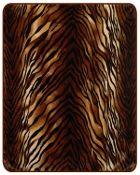 Tiger Skin Mink Blanket