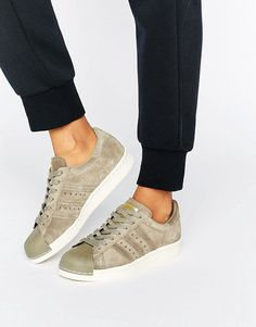 adidas Originals Beige Superstar 80S Sneakers