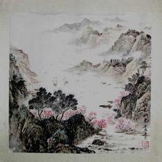 """http://maimaiwenhua.com/tienda/lago-arte-chino  ***Novedad en Maimai Wenhua*** Acuarela tradicional china, """"Paisaje de Lago y Montaña"""" (湖光山色, hu guang shan se).  Realizada a mano por maestro chino. Sellada. Original y única. Cómprala en nuestra tienda online. ENVÍO GRATUITO A ESPAÑA.  http://maimaiwenhua.com/tienda"""