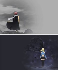 Natsu and lucy I WAS SCREAMING WHEN THIS HAPPENED IN THE THEME SONG
