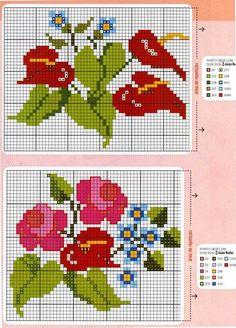 ponto-cruz-flores-cross-stitch-17-500x400 78 gráficos de flores em ponto cruz para imprimir