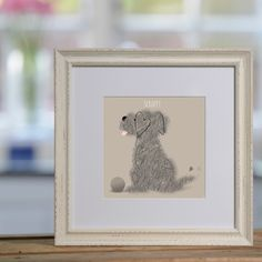 Little Dog with Ball personalised print £48