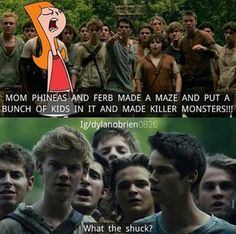Phineas and Ferb/Maze arunner crossover<<WHAT MAKES THIS SO GREAT IS THOMAS BRODIE SANGSTER (newt) DOES THE VOICE OF FERB