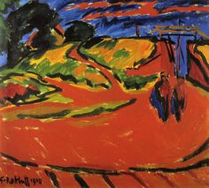 Karl Schmidt-Rottluff, Paysage, 1910