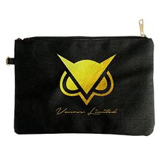 Vanoss Gaming Gold Owl Logo Canvas Pouch Bag