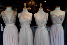 """Sophia"", ""Carly"", ""Blair"" & ""Brescia"" Watters Bridesmaids at The Wedding Store."