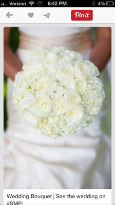 She likes this all white bouquet
