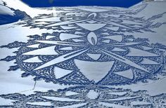 Simon Beck - Snow Art.  See more on #LLBean's blog http://blog.llbean.com/2013/03/simon-beck-and-the-art-of-snow/#