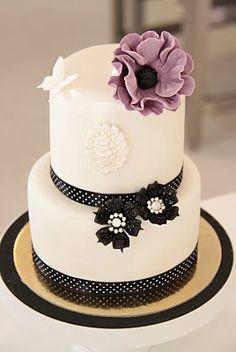 Purple flower cake lulublue