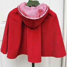 Little Red Riding Hood Cape  Girls by reimaginedtreasures on Etsy, $60.00