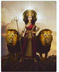 Maa Durga/Maa Shakti -The Shrine of the Irish Oak Inc. Maa Durga Image, Maa Durga Photo, Kali Goddess, Mother Goddess, Indian Gods, Indian Art, Lord Durga, Durga Kali, Lord Shiva