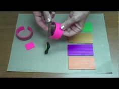 Premo Striped Bracelet tutorial.  Great for learning how to use armature/reinforcement for bangles