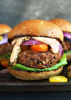 AMAZING, GRILLABLE Veggie Burgers! Hearty, flavorful and hold up on the grill or skillet! #vegan #veggieburger #grilling #dinner #healthy #recipe #minimalistbaker