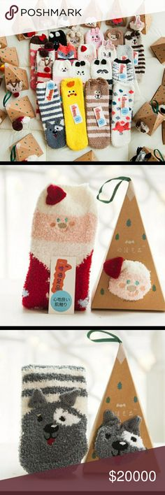 🎅STOCKING STUFFER SOCKS Cute fuzzy 100% cotton socks come on a super cute ornament box! Santa 🎅 Reindeer 🎄 Dog 🐶 Fox 🎁 ⭐Great Holiday Gift Idea⭐ SOLD INDIVIDUALLY PLEASE LET ME KNOW WHICH ONE YOU LIKE WHEN PURCHASING 😀 Accessories Hosiery & Socks