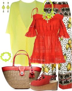 """""""Straw Bags Contest"""" by designsbytraci on Polyvore"""