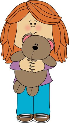 Girl with Teddy Bear Clip Art - Girl with Teddy Bear Image New Year Pictures, School Pictures, Drawing For Kids, Art For Kids, Teddy Bear Images, Classroom Clipart, 2 Clipart, K Crafts, Doodle Sketch