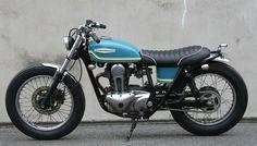 Kawasaki 250TR Brat Style by Jet Custom Cycles #motorcycles #bratstyle #motos | caferacerpasion.com