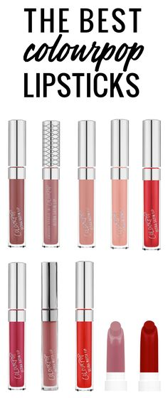 The best ColourPop lipsticks - these are my top 10 favorites!