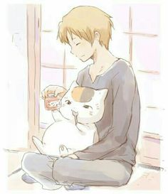 Natsume Takashi and Nyanko-sensei Manga Cat, Manga Anime, Slice Of Life Anime, Natsume Takashi, Hotarubi No Mori, Anime Family, Spyro The Dragon, Otaku Mode, Nagito Komaeda