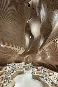 National Museum of Qatar gift shop interiors by Koichi Takada Architects - Innenraum - Architecture Paramétrique, Cabinet D Architecture, Organic Architecture, Amazing Architecture, Architecture Portfolio, Contemporary Architecture, Architecture Sketchbook, Architecture Graphics, Minimalist Architecture