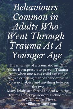 The intensity of a traumatic incident varies from person to person. Trauma from when one was a child can range from a crippling fear of abandonment to physical abuse and anything between the two. Many adults are forced to deal with the trauma they experie Emotional Abuse, Emotional Healing, Emotional Detachment, Emotional Intelligence, Trauma Therapy, Anxiety Therapy, Coaching, Stress Disorders, Mental Health
