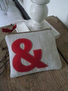 Ampersand pouch.