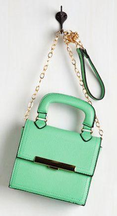 Green cross body mini bag