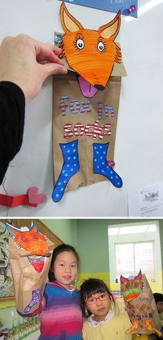 Dr. Seuss crafts inspired by the book 'Fox in Socks'. http://hative.com/dr-seuss-crafts-for-kids/