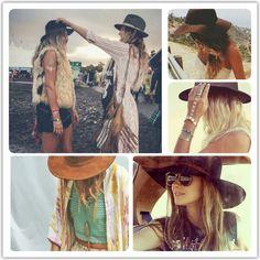 Védd magad a szikrázó napsütéstől vagy éppen a szakadó esőtől! Fesztivál összeállítások következnek, méghozzá kalappal. #festival #style #hat #outfit #summer