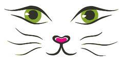 cat face Vector line drawing cat face Cat Face Drawing, Line Drawing, Face Drawings, Cat Tattoo Designs, Cat Sketch, Cat Crafts, Cartoon Images, Face Art, Stone Painting
