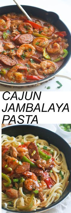 Cheese Cake Factory Cajun Jambalaya Pasta - Quick and Easy  with chicken, shrimp and Sausage, vegetables, infused with spices and aromatics . An incredibly flavorful meal in no time .