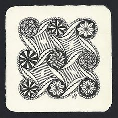 Cadent Variation by Margaret Bremner, Certified Zentangle Teacher