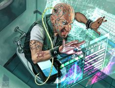 Inside Job (from ANR) hacker, male, human, shadowrun, character Cyberpunk 2077, Science Fiction, Shadowrun Rpg, Space Opera, Cyberpunk Character, Steampunk, Futuristic Art, Futuristic Technology, Sci Fi Characters