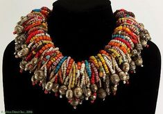 Wonderful necklace that has been put together by Carl Dreibelbis using a collection of rare old beads and vintage silver beads. Tribal Jewelry, Jewelry Art, Beaded Jewelry, Vintage Jewelry, Handmade Jewelry, Jewelry Necklaces, Beaded Necklace, Jewelry Design, Cheap Necklaces