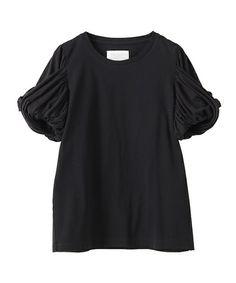 The Virgnia(ザ ヴァージニア)の《予約》ツイストスリーブT(Tシャツ/カットソー)|ブラック