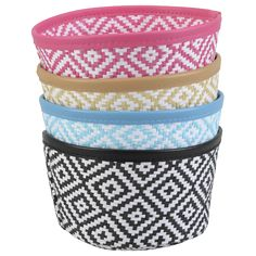 EUR 0,94 - paperwrap mandje gevlochten rond dia17cm Outdoor Furniture, Outdoor Decor, Action, Shopping, Basket, Braid, Circuit, Colors, Group Action