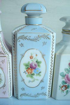Powdery Blue Perfume Bottle