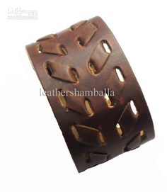 Fashion Brown Leather Bracelet,Leather Wristband,Real Leather ...