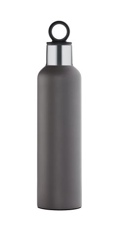 The Blomus insulated water bottles are great for on the go. Perfectly sized to throw in your bag, cup holder, or clip on using the integrated ring on the cap. Available in 2 colors: black or gray and