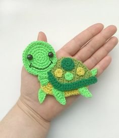 This PATTERN Turtle Applique Crochet Pattern PDF Sea Creatures Crochet Pattern Sea Animal Ocean Motif Ornament Baby Blanket Baby Gift Pattern ENG is just one of the custom, handmade pieces you'll find in our patterns & blueprints shops. Mobiles En Crochet, Crochet Mobile, Crochet Hooks, Crochet Baby, Free Crochet, Motifs D'appliques, Ornament Pattern, Crochet Applique Patterns Free, Crochet Turtle