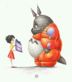 Big Hero 6 and Totoro crossover