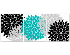 Home Decor Wall Art, Aqua Grey and Black Flower Burst CANVAS PRINTS, Bathroom Wall Decor, Teal Bedroom Decor, Nursery Wall Art is part of bedroom Decoration Turquoise - policy Copyright © Wall Art Boutique Thank you for visiting our shop! Bathroom Wall Decor, Home Decor Wall Art, Home Decor Bedroom, Nursery Wall Art, Canvas Wall Art, Wall Art Prints, Living Room Decor, Bathroom Kids, Canvas Prints