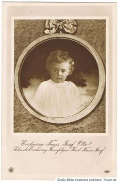 Archduke (future Crown Prince) Otto of Austria-Hungary (Otto von Habsburg) as a baby.  Photographed sometime between 1914 and 1916.