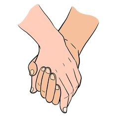 Learn to draw holding hands. This step-by-step tutorial makes it easy. Kids and beginners alike can now draw great looking holding hands. Holding Hands Pictures, Friends Holding Hands, Holding Hands Drawing, Hand Pictures, Bff Drawings, Easy Drawings, Flower Line Drawings, Hand Sticker, Couple Sketch