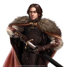 Winona Nelson - Ravenmarch Characters Fantasy Male, Fantasy Warrior, Fantasy Rpg, Medieval Fantasy, Fantasy Portraits, Character Portraits, Fantasy Artwork, Dnd Characters, Fantasy Characters