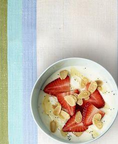 Lemon-poppy Yoghurt with Strawberries Toasted Almonds, The Breakfast Club, Good Housekeeping, Brunch Recipes, Allrecipes, Strawberries, Poppy, Lemon, Heart Health